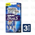 Gillette Blue 3 Blades - 3 cartridges