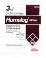 Humalog Lispro Inj 100u/ml 5cartiridgesx3ml