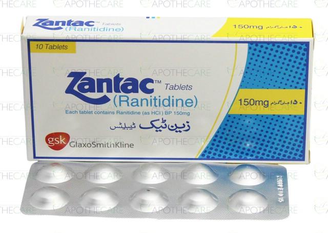 Zantac Ranitidine 150 Mg Tablet