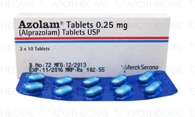 Alprazolam 0.25 mg vidal