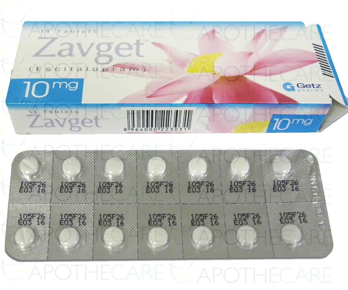 escitaloprám 10 mg