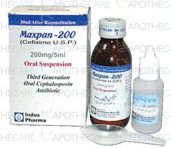 Maxpan-200 Susp 200mg/5ml 30ml