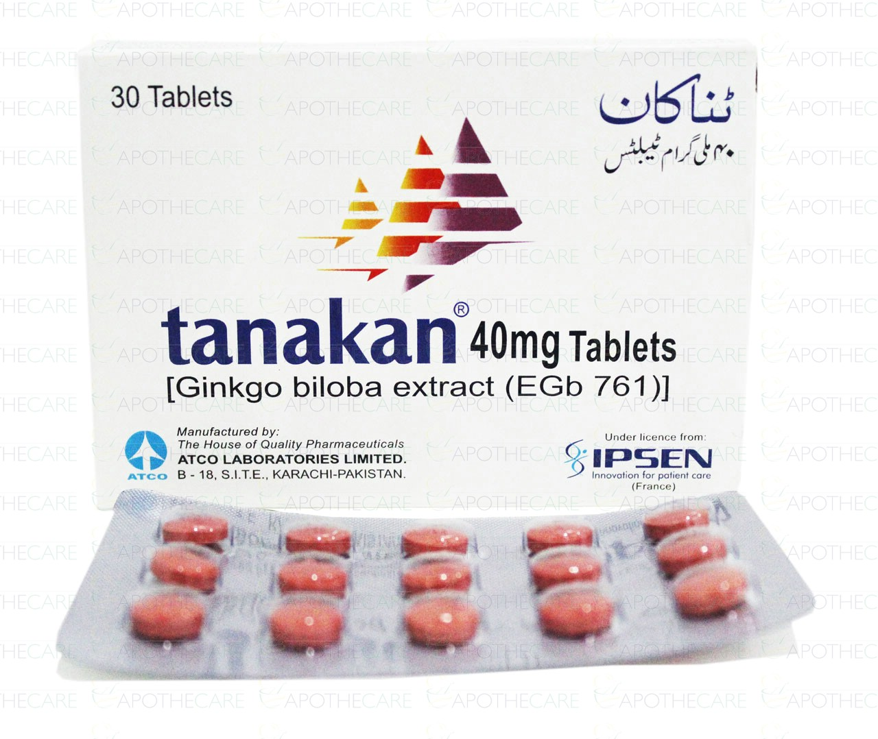 Tanakan Tab 40mg 2x15's