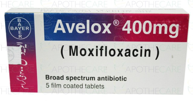 Avelox tab 400mg 1x5 s
