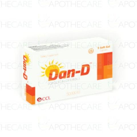 Dan-D Soft Gel Cap 50,000IU 5's