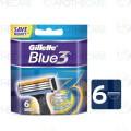 Gillette Blue 3 Blades - 6 cartridges