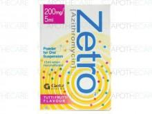 Zetro Susp 200mg 5ml 15ml